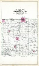 County Outline Map, Jefferson County 1899